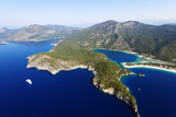 Turkey, Mediterranean, Aegean Turquoise Coast, Oludeniz Near Fethiye, Blue Lagoon and Belcekiz Beach