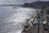Town and Pier View, Teignmouth, Devon, UK