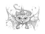 Bat Cat Mask Pencil