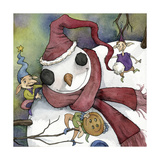 Snowman and Elves