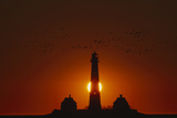 Lighthouse of Westerheversand During Sunset