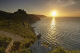 Sunset over Cliffs at the Valley of Rocks, Lynton, Exmoor National Park, Devon