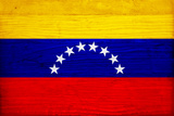 Venezuela Flag Design with Wood Patterning - Flags of the World Series