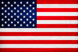 United States of America Flag Design with Wood Patterning - Flags of the World Series