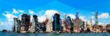Low Poly New York Art - Manhattan Blue