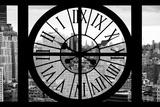 Giant Clock Window - View on the Garmen District - New York City II