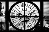 Giant Clock Window - View of the Pont Alexandre III in Paris