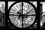 Giant Clock Window - View on the 10th Avenue - Manhattan in Winter III