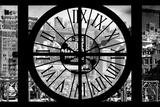 Giant Clock Window - View of New York Brick Buildings II