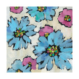 Graphic Pink and Blue Floral II