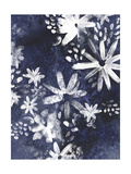 Indigo Floral Gesture II