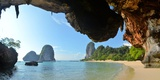 Clear Water, Blue Sky at Cave Beach, Krabi Thailand
