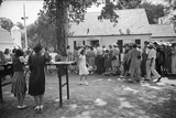Visitors Lining Up to View Ohio's Most Typical Farm Family, Columbus, Ohio, 1941