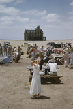 Actress Elizabeth Taylor on the Set of the Film 'Giant', Near Marfa, Texas, 1956