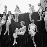 First Miss Universe Contest, Miss France and Miss Israel, Long Beach, California 1952