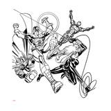 Avengers Assemble Inks Featuring Iron Man, Captain America, Thor, Black Widow