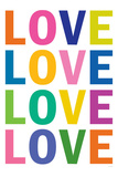 Love (Colorful, White)
