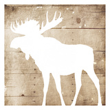 White On Wood Moose Mate