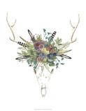Deer Skull & Flowers II