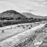 !Viva Mexico! Square Collection - Teotihuacan Pyramids B&W