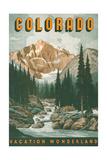 Denver, Colorado - Retro Skyline Posters by Lantern Press at ...