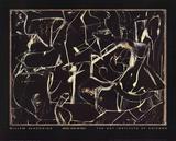 Untitled (Black and White) Litografia por Willem de Kooning