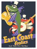 East Coast Frolics - London and North Eastern Railway - Fish Saxophone Crab Banjo ポスター : フランク・ニューボールド