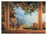 Daggry, Daybreak, på engelsk Poster af Maxfield Parrish