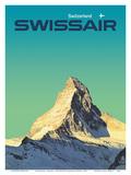 Switzerland - SwissAir - Matterhorn Poster tekijänä Manfred Bingler