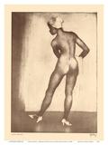Nude Studies - Hawaiian Native Girl - from Etchings and Drawings of Hawaiians Poster di John Melville Kelly