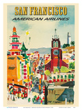 San Francisco - American Airlines Art by Dong Kingman