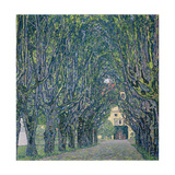Tree-lined road leading to the manor house at Kammer, Upper Austria (1912) Giclée-Druck von Gustav Klimt
