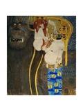"The ""Beethoven Frieze"" painted for the 1902. Giclée-Druck von Gustav Klimt"