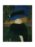 Lady with hat and feather boa. Oil on canvas (1909) 69 x 75 cm. Giclée-Druck von Gustav Klimt