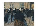 'La Rentree A L'Hospice De La Salpetriere', c1911 Giclée-vedos tekijänä Georges Dupuis