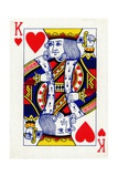 King of Hearts from a deck of Goodall & Son Ltd. playing cards, c1940 Giclee Print by  Unknown