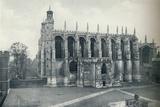 'The Chapel, from the Roof of Long Chamber', 1926 Valokuvavedos tekijänä Unknown,