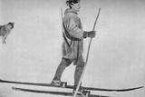'Lars Pettersen on Snow Shoes', c1893-1896, (1897) Valokuvavedos tekijänä Unknown,