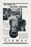'The Beauty of Functional Furnishing - Finmar', 1939 Photographic Print by  Unknown