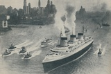 'Arrival at New York of the Normandie', 1936 Photographic Print by  Unknown