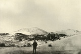 'The Hut, with Mount Erebus in the Background, in the Autumn', 1908, (1909) Photographic Print by  Unknown