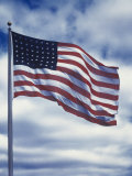 48 Star American Flag Impressão fotográfica por Dmitri Kessel