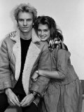 Actress Brooke Shields and Musician Sting Premium Photographic Print