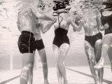 Underwater Shot of Actress Daphne Dayle in Topless, One Piece Swim Suit by Designer Ruben Torres Photographic Print by Paul Schutzer
