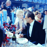 Actress Marilyn Monroe with Her Husband, Playwright Arthur Miller April in Paris Ball Premium-Fotodruck von Peter Stackpole