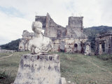 Unidentified Ruins Including Bust of a Woman in Haiti Photographic Print by Lynn Pelham