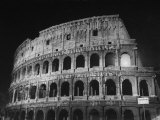 View of the Ruins of the Colosseum in the City of Rome Stretched Canvas Print by Carl Mydans