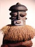 Dance Masks Used by the Bushonogo Tribe in the Belgian Congo Reproduction photographique par Eliot Elisofon
