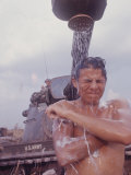 Soldier of the 11th Armored Regiment in Vietnam Taking a Shower Photographic Print by Co Rentmeester