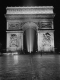 View of the Arc de Triomphe Lit at Night on Bastille Day Photographic Print by David Scherman